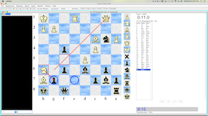 chess board in interface