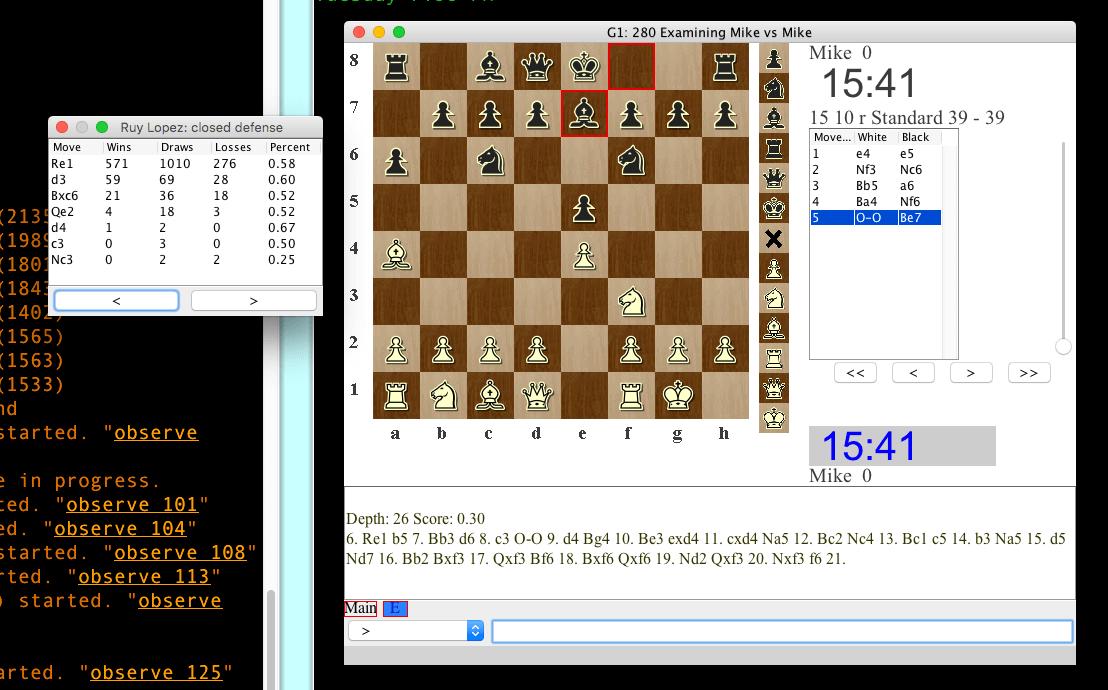 Lantern Chess Interface for Chessclub com